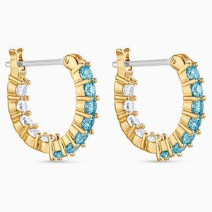 Swarovski Vittore hoop earrings, aqua